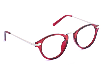specs: Image of eyeglasses on a white background Stock Photo