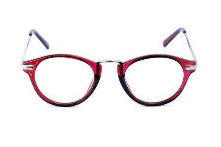 spectacle: Image of eyeglasses on a white background Stock Photo