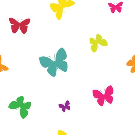 mariposa: Mariposa diseño de vectores de fondo de arte para la tela y la decoración. patrón sin fisuras