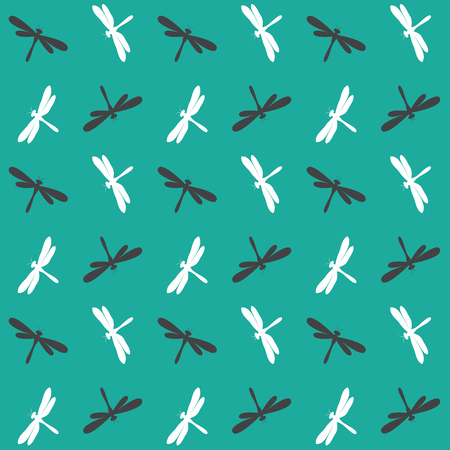 dragonfly wing: Dragonfly vector art background design for fabric and decor. Seamless pattern Illustration