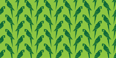 aviary: Parrot vector art background design for fabric and decor. Seamless pattern