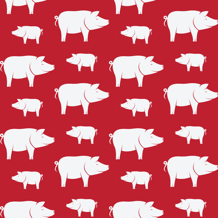 jabali: Pig vector art background design for fabric and decor. Seamless pattern
