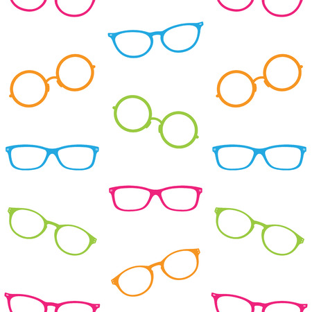 eyeglass: Glasses vector art background design for fabric and decor. Seamless pattern