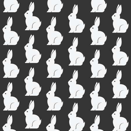 cute wallpaper: Rabbit vector art background design for fabric and decor. Seamless pattern Illustration