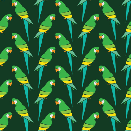 cartoon parrot: Parrot vector art background design for fabric and decor. Seamless pattern