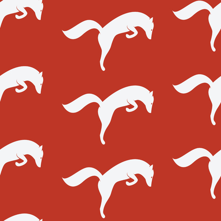 vector art: fox vector art background design for fabric and decor. Seamless pattern