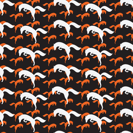 fabric art: fox vector art background design for fabric and decor. Seamless pattern