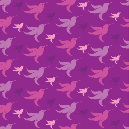animal pattern: Hummingbird vector art background design for fabric and decor. Seamless pattern