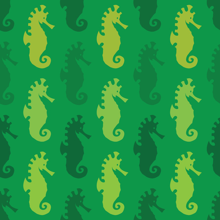 fabric art: Sea horse vector art background design for fabric and decor. Seamless pattern