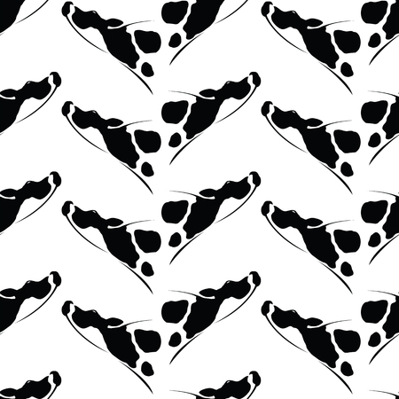 fabric art: Cow vector art background design for fabric and decor. Seamless pattern