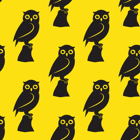 fabric art: Owl vector art background design for fabric and decor. Seamless pattern
