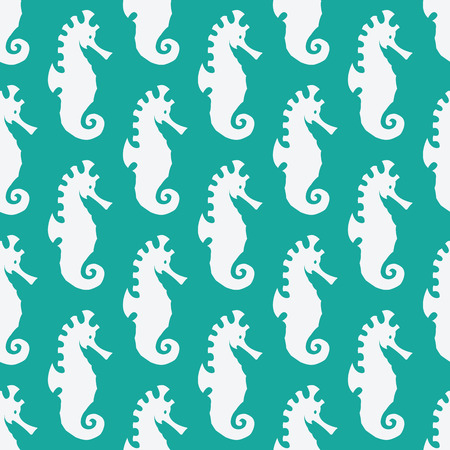 sea horse: Sea horse vector art background design for fabric and decor. Seamless pattern