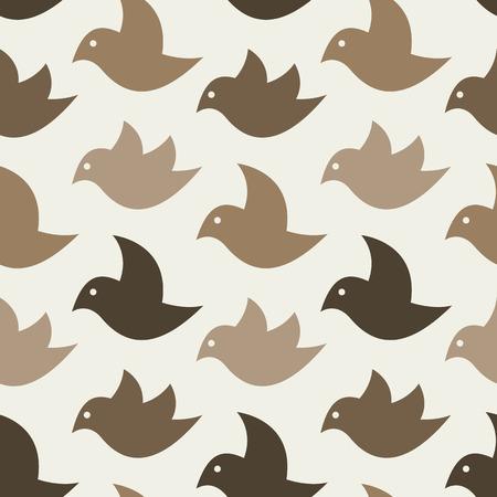 fabric art: Bird vector art background design for fabric and decor. Seamless pattern