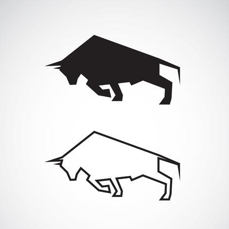 bull horn: bull design on a white background Illustration