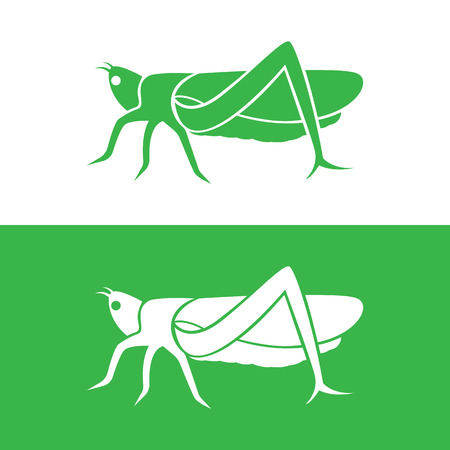 hopper: grasshopper design on white background and green background Illustration