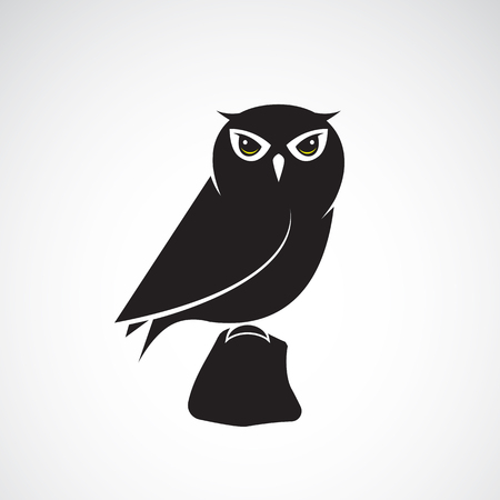 prey: owl design on white background