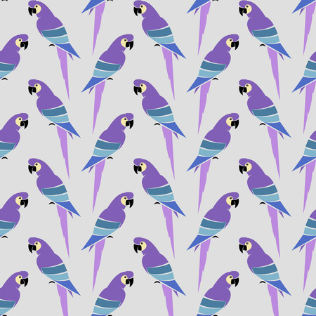 aviary: Parrot art background design for fabric and decor. Seamless pattern