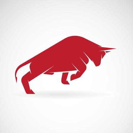 toro: Vector de imagen de un diseño del toro sobre un fondo blanco Vectores