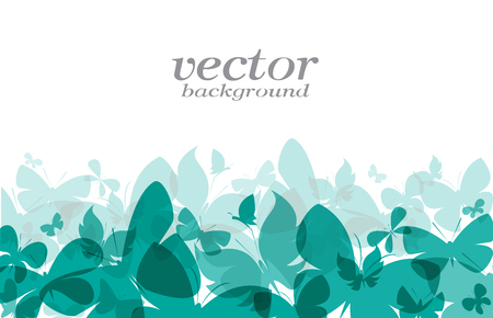 illustration background: Butterfly design on white background - Vector Illustration, background