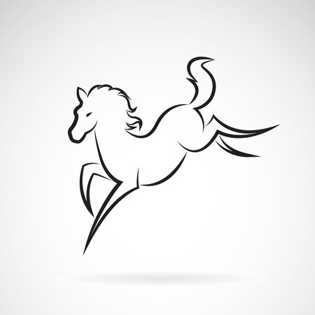 jovial: Vector image of an horse design on white background