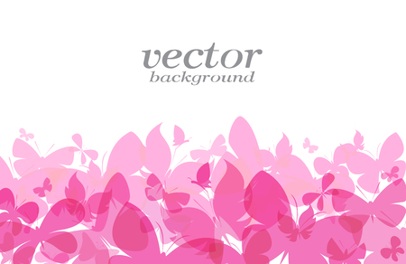 Butterfly design on white background - Vector Illustration, background