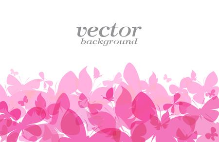Vlinderontwerp op witte achtergrond - Vectorillustratie, achtergrond
