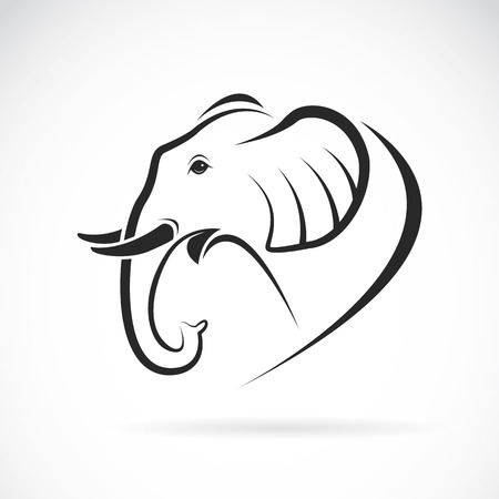 line drawing: Image of an elephant design on a white background Illustration