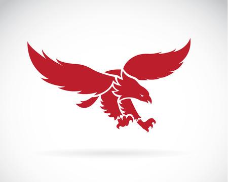 Vector de imagen de un diseño del águila en el fondo blanco