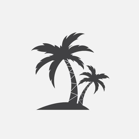 Wektorowy wizerunek palmowa tropikalna drzewna ikona na białym tle