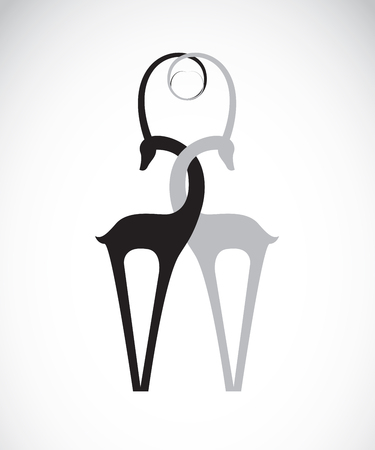 reclining: deer design on a white background