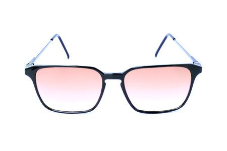 glasses eye: Image of sunglasses on white background. Stock Photo