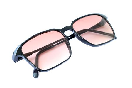 wayfarer: Image of sunglasses on white background. Stock Photo
