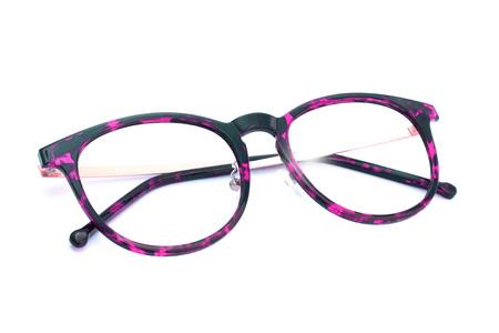 eyeglass frame: Image of frame eyeglass on white background. Stock Photo