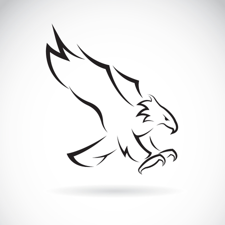 eagle: an eagle design on white background