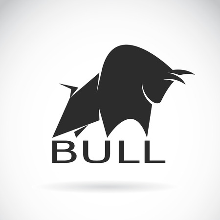 an bull design on a white background.