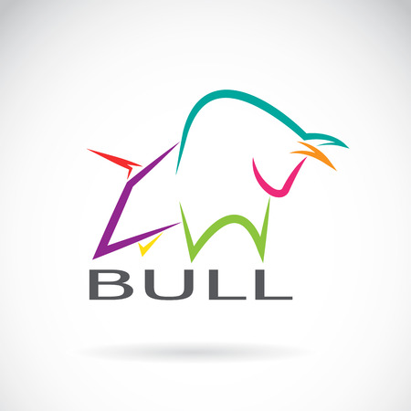 image of an bull design on a white background
