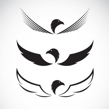 Bild eines Adlers Design auf weißem Hintergrund