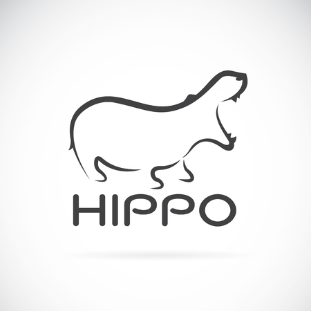 image of an hippo design on white background.