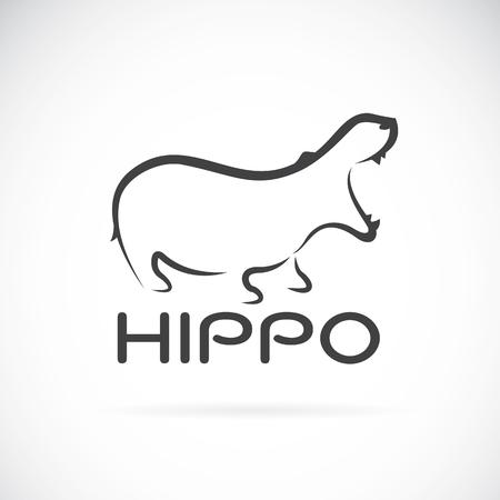 Bild eines Nilpferd Design auf weißem Hintergrund.