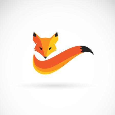 afbeelding van een vos ontwerp op een witte achtergrond Stock Illustratie