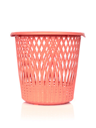 space rubbish: Image of plastic basket on white background Stock Photo