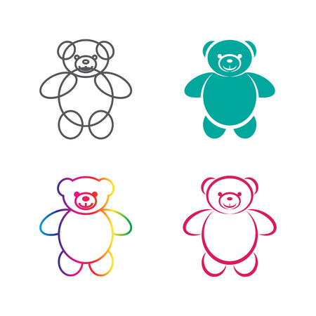 vector images: Vector images of teddy bear on a white background., Vector teddy bear for your design. Illustration