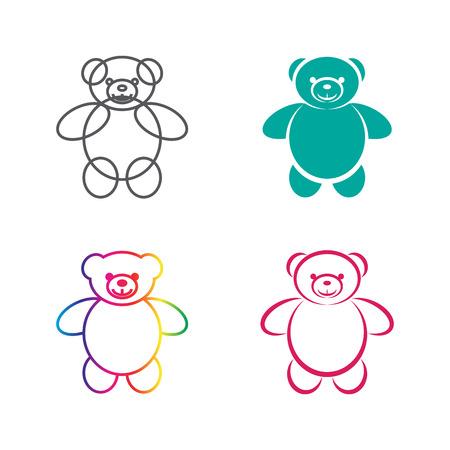 cute bear: Vector images of teddy bear on a white background., Vector teddy bear for your design. Illustration