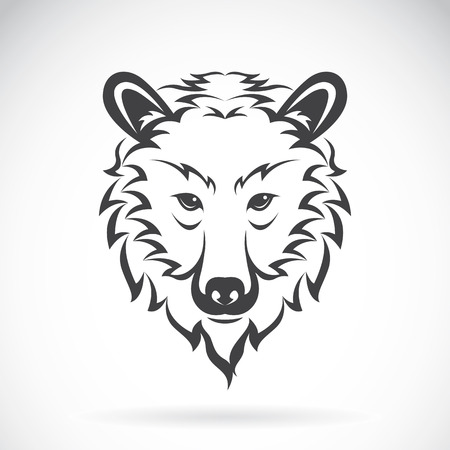 Vector images of bear head on a white background., Vector bear head for your design.