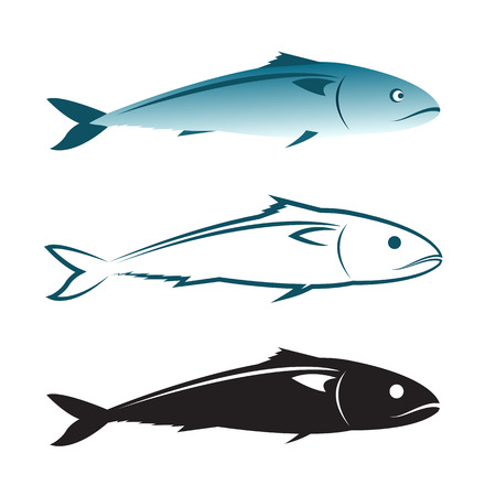 mackerel: Vector image of an mackerel design on white background., Mackerel Icon., Vector mackerel for your design. Illustration