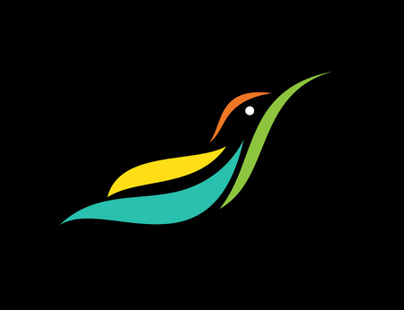humming: image of an humming bird design on black background,  Hummingbird for your design.