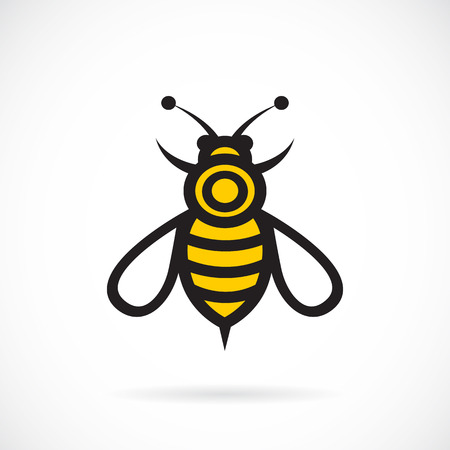 nectars: Vector image of an bee design on white background.