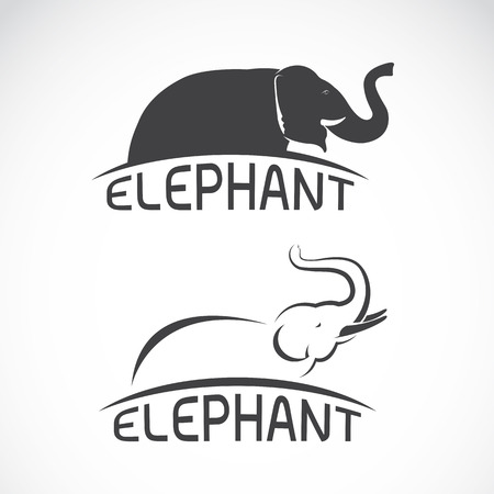art logo: Vector images of elephant design on a white background, Vector elephant for your design.