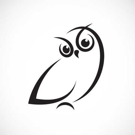 abstract black: Vector of owl design on white background.