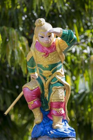 sunni: Image of monkey Statue on nature background.  (Sunni constant fear) Stock Photo